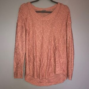 CHARLOTTE RUSSE Pink Knitted Sweater Shirt Top